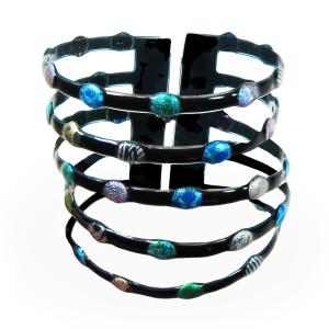 bracelet-pois-bleu-vert-molusk
