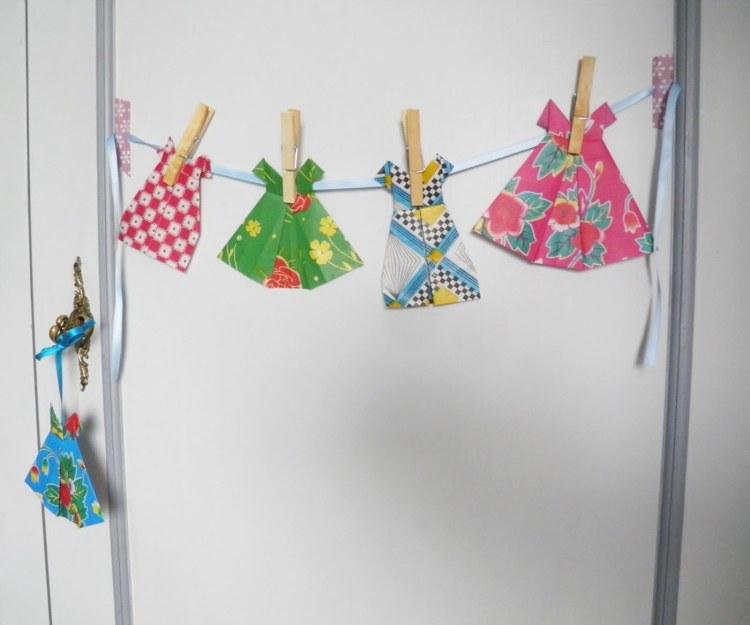 idee-deco-pliage-papier-robe-origami