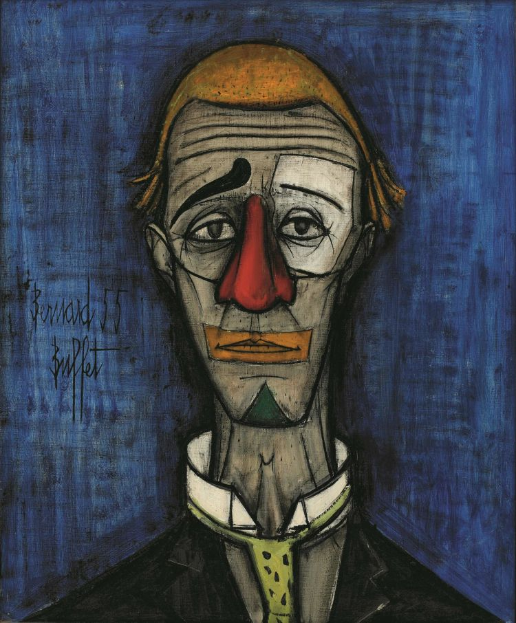 bernard-buffet-clown-triste