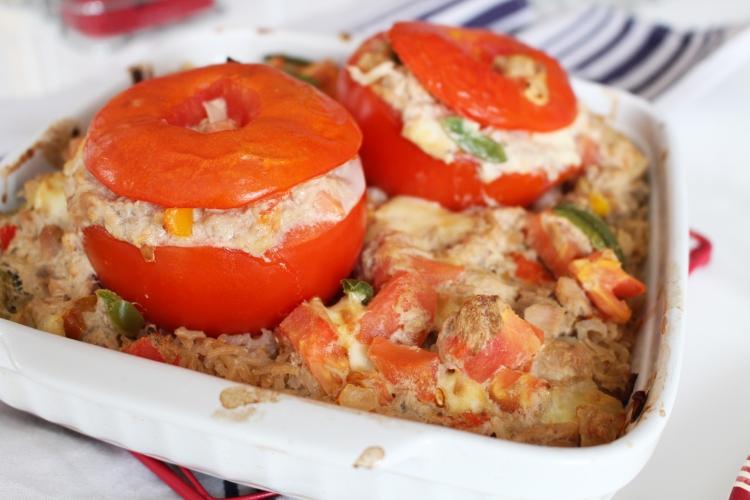Tomates farcies au thon et mozzarella
