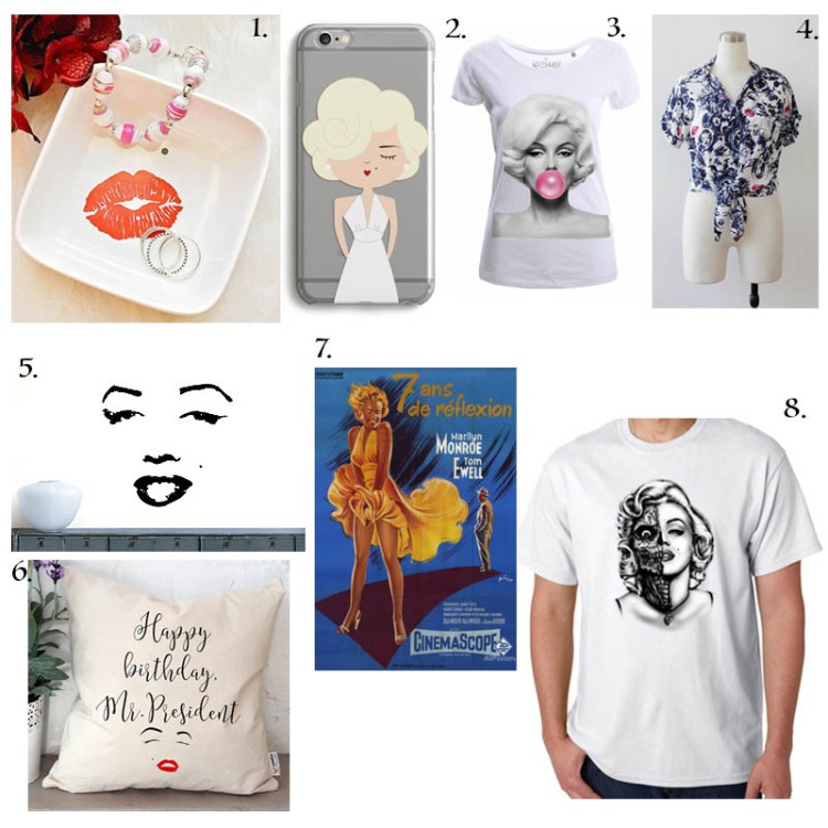 Sélection shopping Marilyn Monroe